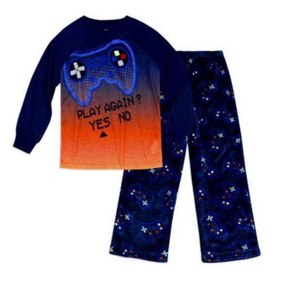 NWT 10 12 glow in dark gaming console pajamas boy